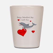 Personalized Dolphin Valentine Shot Glass
