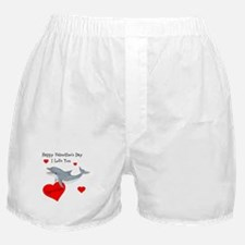 Personalized Dolphin Valentine Boxer Shorts