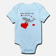 Personalized Dolphin Valentine Infant Bodysuit