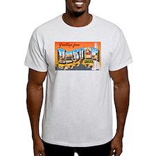Boston Massachusetts (Front) Ash Grey T-Shirt
