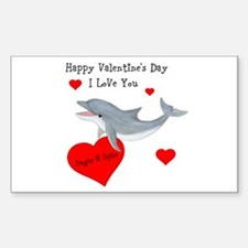 Personalized Dolphin Valentine Decal