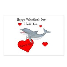 Personalized Dolphin Valentine Postcards (Package