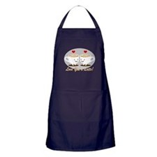 Cute! I Love You a LATTE! Apron (dark)