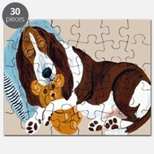 Basset Asleep With Teddy Puzzle