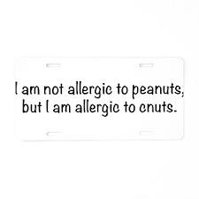 allergy-txtbk Aluminum License Plate