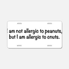 allergy-txtbk Aluminum License Plate