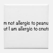 allergy-txtbk Tile Coaster
