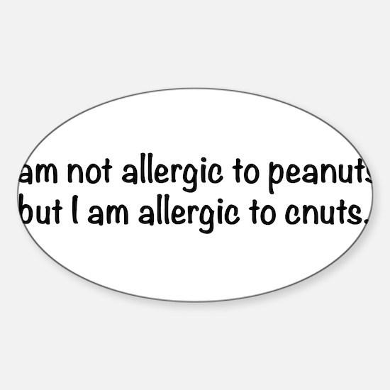 allergy-txtbk Sticker (Oval)