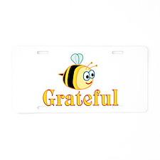 Be Grateful Aluminum License Plate