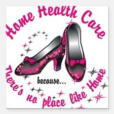 "Home health care Square Car Magnet 3"" x 3"""