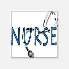"Nurse logo Square Sticker 3"" x 3"""