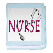 Nurse with stethescope baby blanket