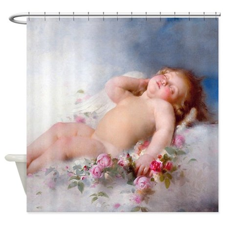 Sleeping Putto Shower Curtain