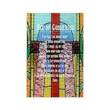 Act of Contrition Prayer Glass Rectangle Magnet