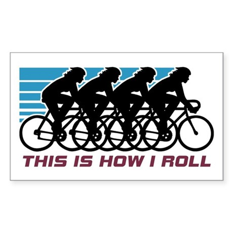 Cycling (female) Sticker (Rectangle)