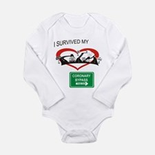 I survived my coronary bypass Long Sleeve Infant B