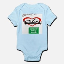 I survived my coronary bypass Infant Bodysuit