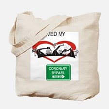 I survived my coronary bypass Tote Bag