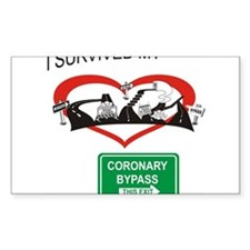 I survived my coronary bypass Decal