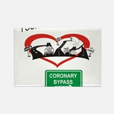 I survived my coronary bypass Rectangle Magnet