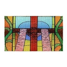 Act of Contrition Prayer Glass 3'x5' Area Rug