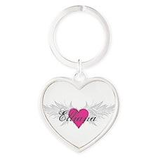My Sweet Angel Elliana Heart Keychain