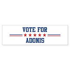Vote for ADONIS Bumper Bumper Sticker