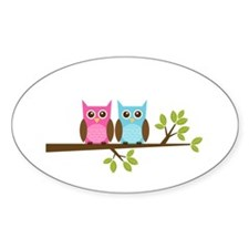 Two Owls on a Branch Decal