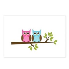 Two Owls on a Branch Postcards (Package of 8)