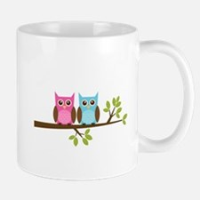 Two Owls on a Branch Mug