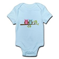 Two Owls on a Branch Infant Bodysuit