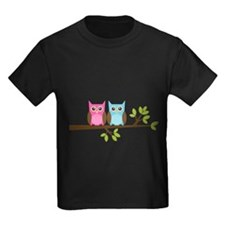 Two Owls on a Branch T