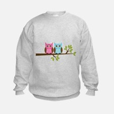 Two Owls on a Branch Sweatshirt
