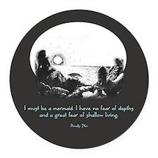 Mermaid Quote Round Car Magnet