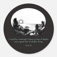 Mermaid Quote Round Car Magnet