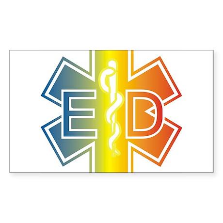 ED multicolor Sticker (Rectangle)
