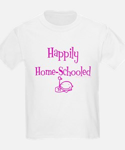 happily home schooled Kids T-Shirt