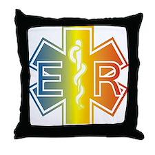 ER multicolor Throw Pillow