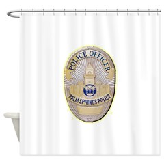 Palm Springs Police Shower Curtain