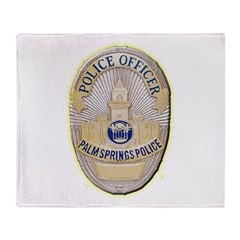 Palm Springs Police Throw Blanket
