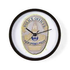 Palm Springs Police Wall Clock