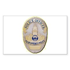 Palm Springs Police Decal