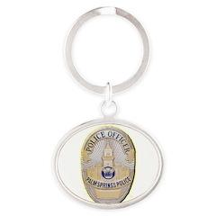 Palm Springs Police Oval Keychain