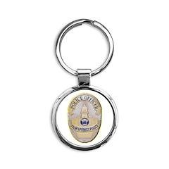 Palm Springs Police Round Keychain