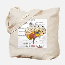 I miss my mind Tote Bag