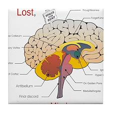 I miss my mind Tile Coaster