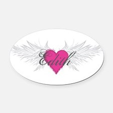 My Sweet Angel Edith Oval Car Magnet