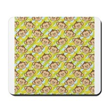 Repeating Happy Monkeys Mousepad