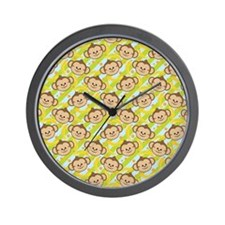 Repeating Happy Monkeys Wall Clock