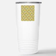 Repeating Happy Monkeys Stainless Steel Travel Mug